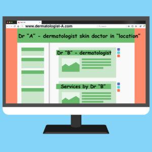 Publicité pour un Dermatologue Insérée dans le Site d'un Autre Dermatologue (Involontairement?)